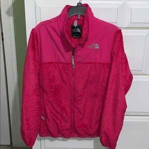 Girl's NORTH FACE Hot Pink Fleece Jacket Size L